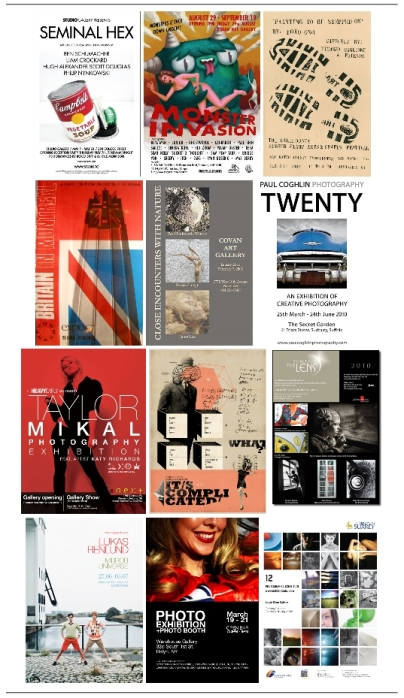 12 Poster Designs for Photography Exhibitions