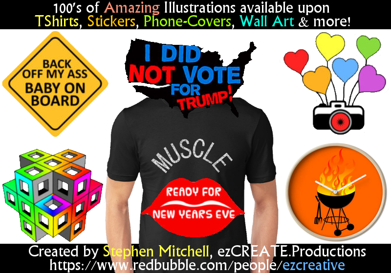 Redbubble.com/ezCREATive Advertisement