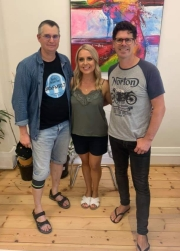 Stephen Mitchell with Kelly Noble and Steve Testar at GlamAdelaide Office